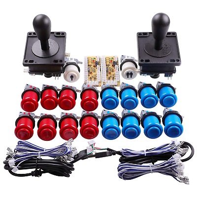 New 2-Player Arcade Buttons and Joystick DIY Controller Kit for Raspberry Pi