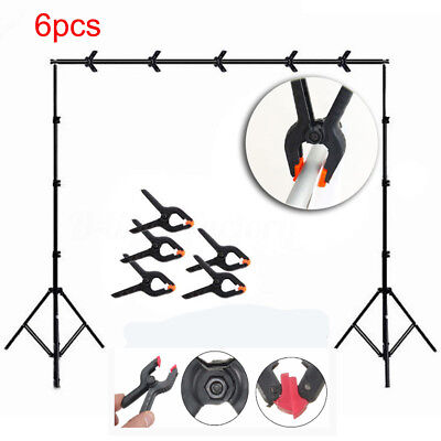 6Pcs Photo Studio Light Photography Background Clips Holder Backdrop Pegs Clamps
