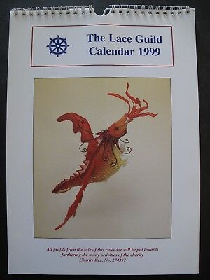 THE LACE GUILD CALENDAR 1999 with 12 patterns