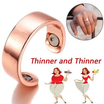 RoseGold Cuff Pain Relief Therapy Ring Copper Unisex Healing Arthritis Magnetic