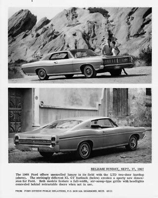 1968 Ford LTD & XL GT Press Release Photo with Text 0072