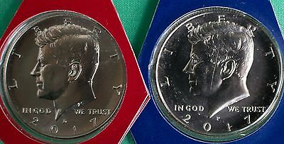 2017 P and D Kennedy Half Dollar Coin from US Mint Set 2 BU Cello Fifty Cent 50c