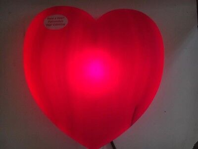 Lighted Giant Valentines Red Heart Union Products 1995