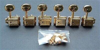 Guitar Parts WILKINSON Vintage Style - 6 In Line - TUNERS SET - GOLD