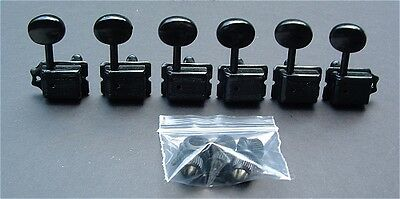 Guitar Parts WILKINSON Vintage Style - 6 In Line - TUNERS SET - BLACK