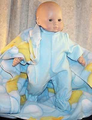 """Doll Clothes Baby Made 2 Fit American Girl 15"""" in Bitty Boy Pajamas Blanket Duck"""