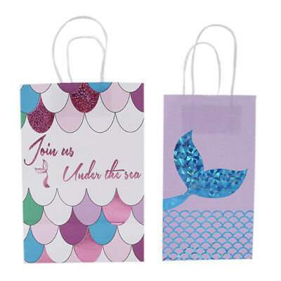 Mermaid Tail Paper Bag Tote Party Cookie Candy Gift Birthday Favor Z