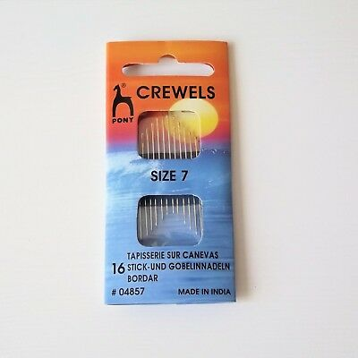 2x25 Pony Gold Eye Hand Sewing Needles Betweens//Quilting Size 5 50 needles