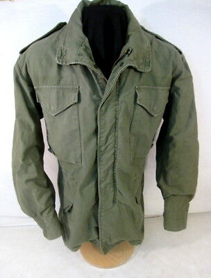 post-Vietnam US Army M65 OG-107 Combat Field Coat Jacket - Size Med/Reg - NICE