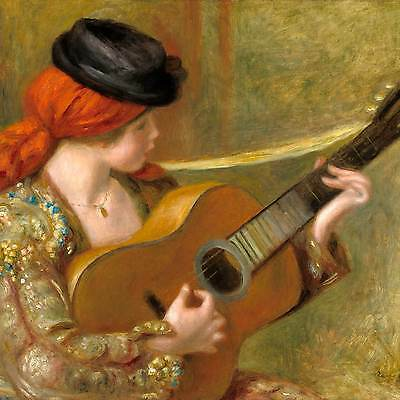 Renoir: Young Spanish Woman with a Guitar, 1898 - Fine Art Greeting Card