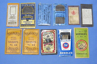 11 packs vintage crewel embroidery sewing needles sharps Brabants, Clinton more