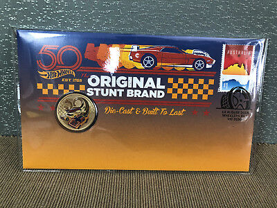 New Mint Uncirculated 50th Anniversary of Hot Wheels $1 Coin PNC Limited to 7500