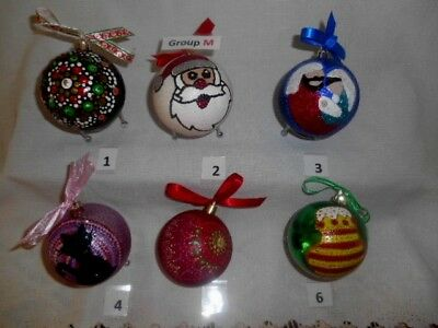Personalised Christmas Baubles -NEW DESIGN- Postage available