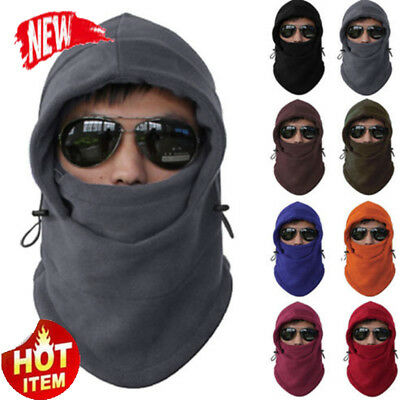 Cool Motorcycle Thermal Fleece Balaclava Neck Winter Ski Trendy Full Face Mask