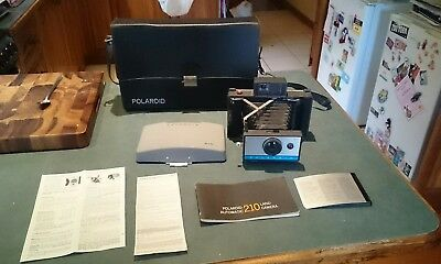 Vintage Retro Polaroid 210 Land Camera With Manual And Case