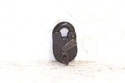 Old Vintage Antique Rare Iron Brass Lock and Key Collectible PA27