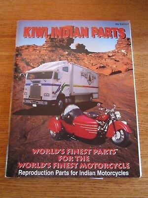 Kiwi Indian Parts Catalog 4Th Edition Reproduction Parts For Indian Motorcycles