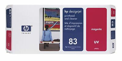 HP 83 Magenta DesignJet UV Printhead and Printhead Cleaner print head