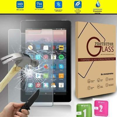 Tempered Glass Screen Protector For Amazon Fire 7 alexa (7th Gen 2017) Tablet