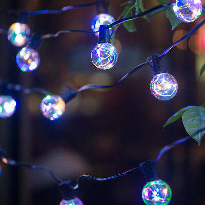 G40 Globe Outdoor String Light with 25LED Copper wire Clear bulbs Holiday decor