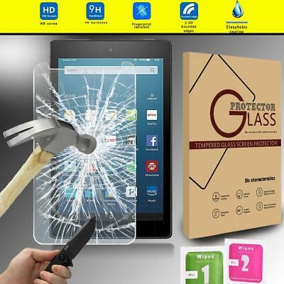 Tempered Glass Screen Protector For Amazon Fire HD 8 alexa (7th Gen 2017) Tablet