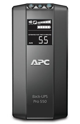 APC Back-UPS Pro uninterruptible power supply (UPS) 550 VA 6 AC outlet(s) Line-I