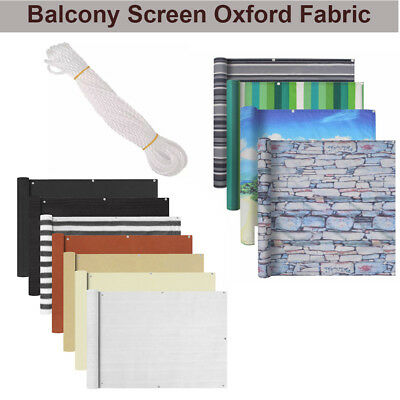 Balcony Screen Privacy Sunshade Cover Oxford Fabric Multi Sizes Waterproof New