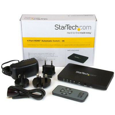 StarTech.com 4-Port HDMI automatic w/ aluminum housing and MHL support – 4K 30Hz