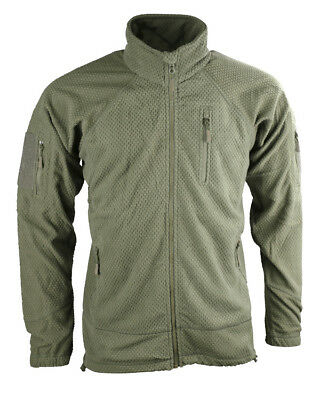 FLEECE SHIRT / JACKET BRITISH ARMY STYLE TACTICAL DELTA in OLIVE GREEN
