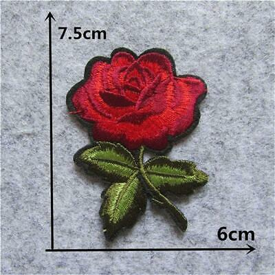 New Arrival rose flower patches embroidery applique clothes sewing patch DIY ...