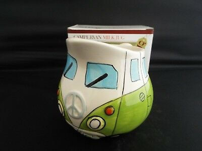 Novelty Ceramic Green Camper Van Milk Jug