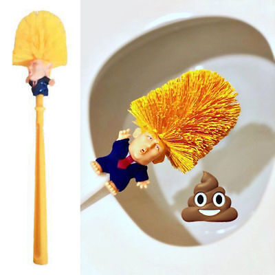 Donald Trump Toilet Brush Bowl Doll Make Toilet Great Again Commander in Crap