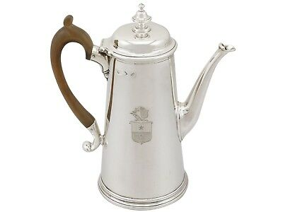 Antique George II Sterling Silver Coffee Pot (1729)
