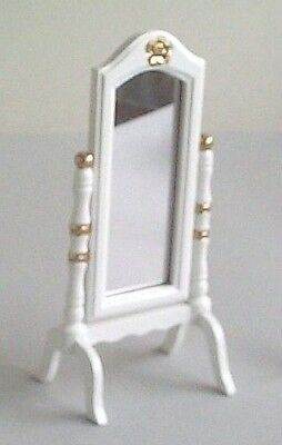 Dolls House Furniture:  Cheval Mirror :  in 12th scale