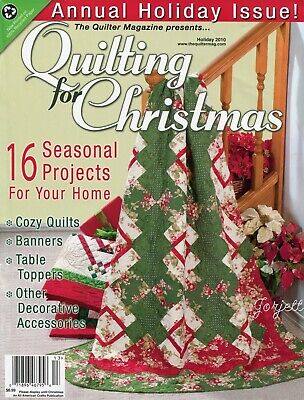 Quilting for Christmas Holiday 2010 ~ 16 quilt sewing patterns