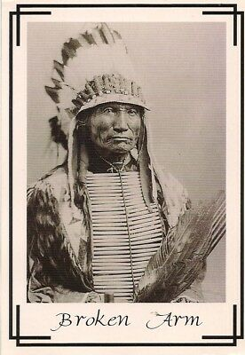 Postcard Indian Chief Broken Arm Ogalla Sioux