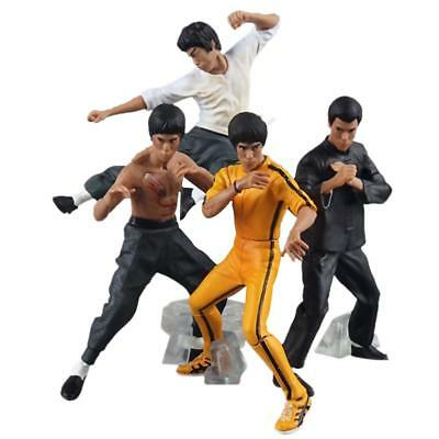4pcs/set Bruce Lee Kung Fu PVC Action Figures Collection Toys 10-13cm Gifts USA