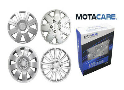 "Wheel Trims Universal Plastic Silver Hub Caps Full Set Abs Trim 14"" 15"" 16"" Inch"