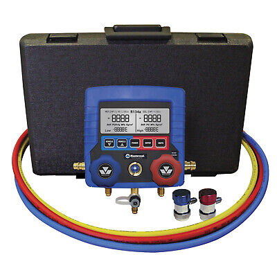 Mastercool R134a Air Conditioning Digital Manifold Gauge Kit Couplers Case