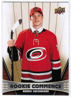 18/19 UD SERIES 1 HOCKEY ROOKIE COMMENCE INSERT CARDS (RC-XX) U-Pick From List