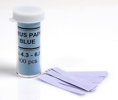 Blue Litmus Test Paper Acid Indicator Vial of 100 strips