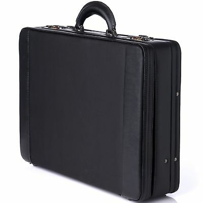 Alpine Swiss Expandable Attache Case Dual Combination Lock Hard Side Briefcase