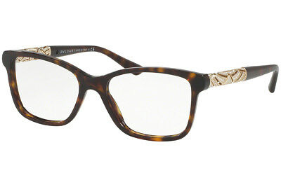 aedea24770 New Bvlgari BV4125B 504 RX Prescription Eyeglass Frames Havana 52mm Italy