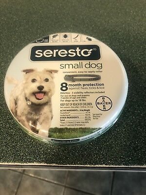 Seresto Flea and Tick 8 Month Collar for Small Dogs up to 18 lbs
