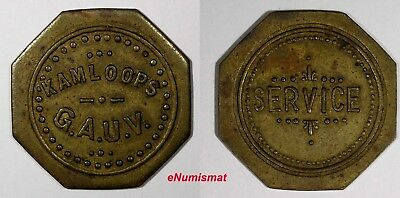 CANADA British Columbia & Vancouver Brass Token ND (1920'S) GRAND ARMY OF UNITED