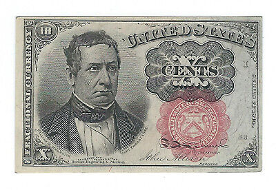 1874-76 10 Cents Fractional Currency, 5Th Issue, Fr1266, Crisp Unc Details