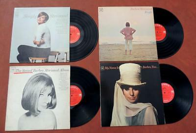 Barbra Streisand LOT of 4 Vintage Columbia LPs Vinyl Record Albums