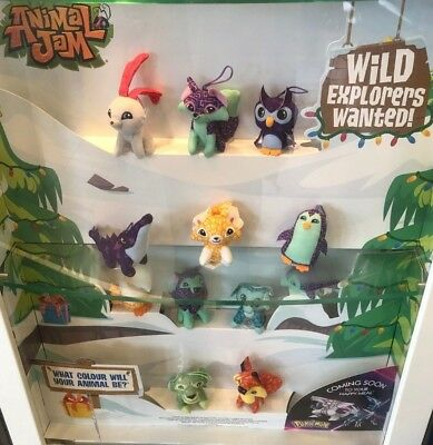 Animal Jam Soft Toy Hangers Mcdonalds Happy Meal 2018 UK Various Characters