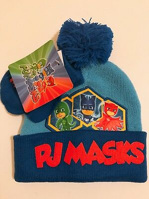 a32c3e8d8fe PJ Masks Character Toddler Boys Beanie Hat and Gloves 2 Piece Winter Gift  Set