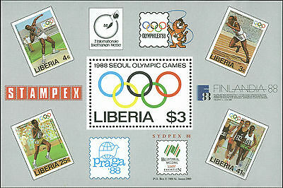 Liberia Scott #1081 Mint Never Hinged Souvenir Sheet